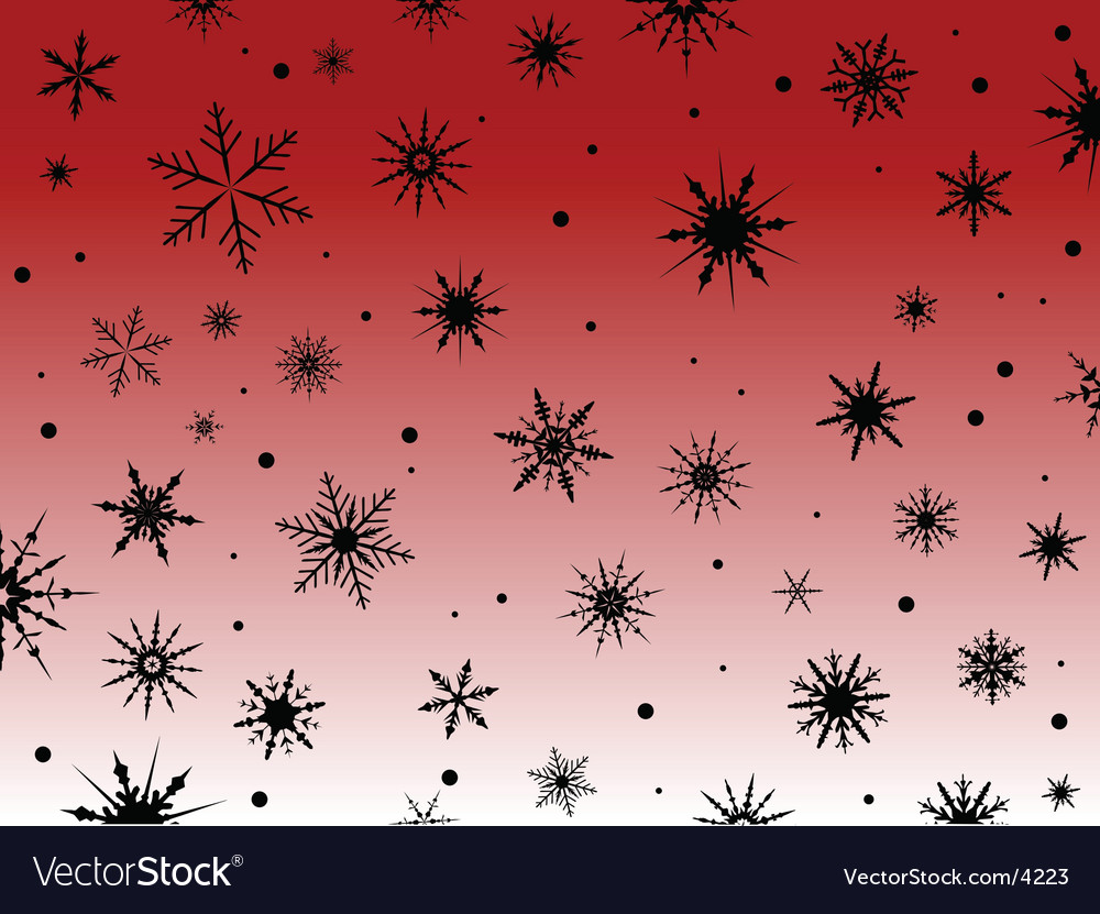 Black snowflakes vector | Price: 1 Credit (USD $1)