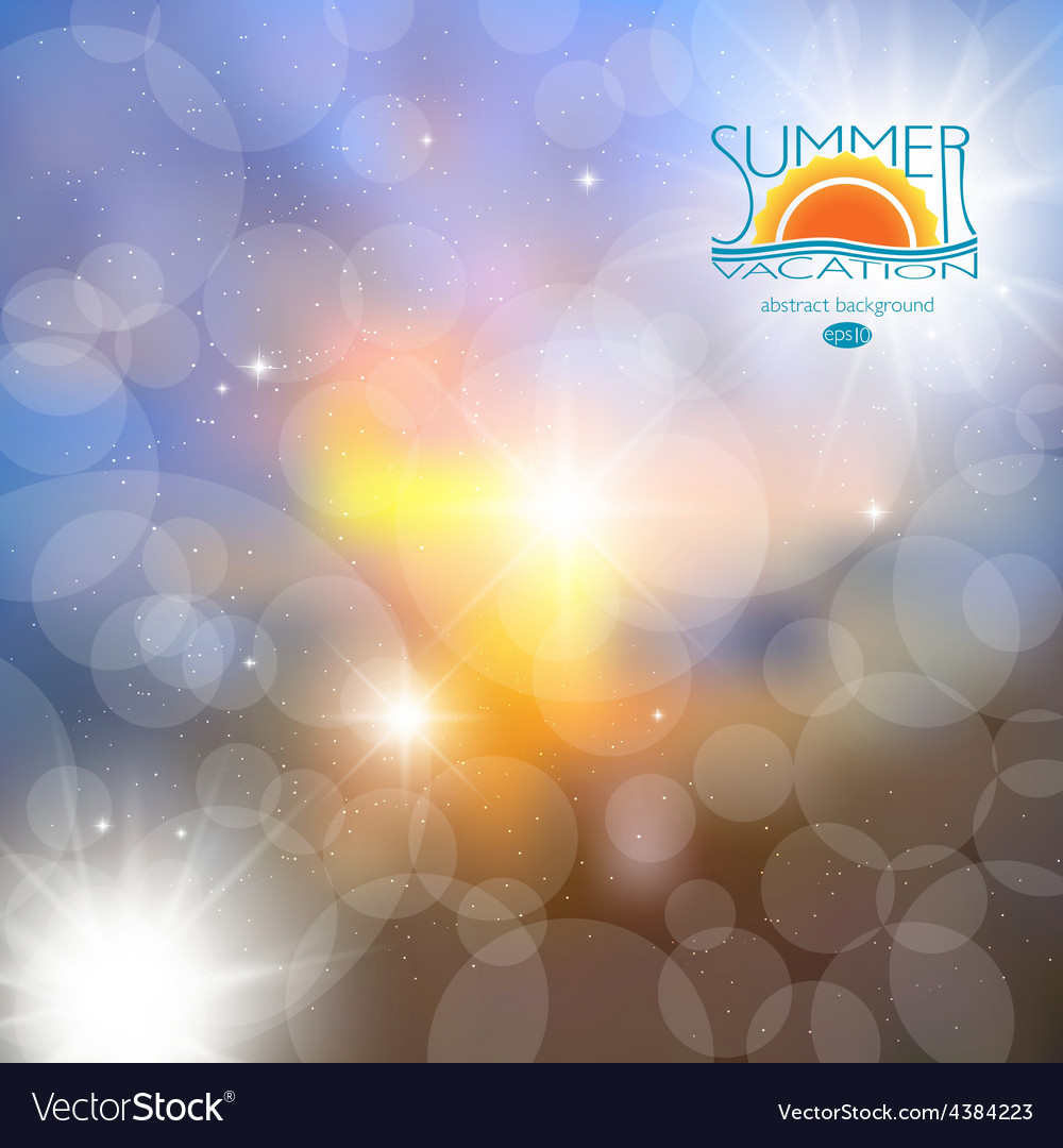 Blur the background  summer heat rest abstract vector | Price: 1 Credit (USD $1)