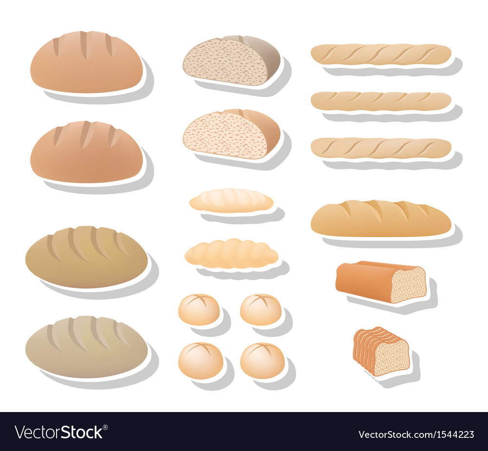 Bread collection vector | Price: 1 Credit (USD $1)