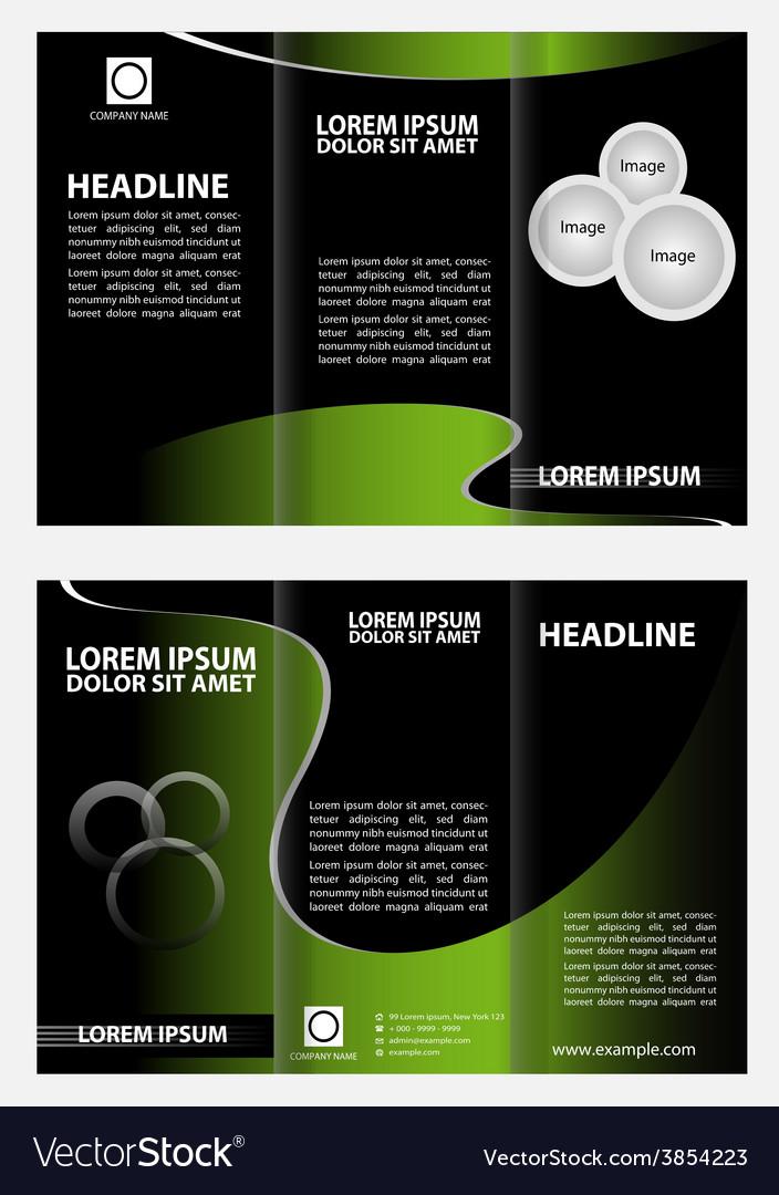 Brochure folder leaflet tri-fold template vector | Price: 1 Credit (USD $1)