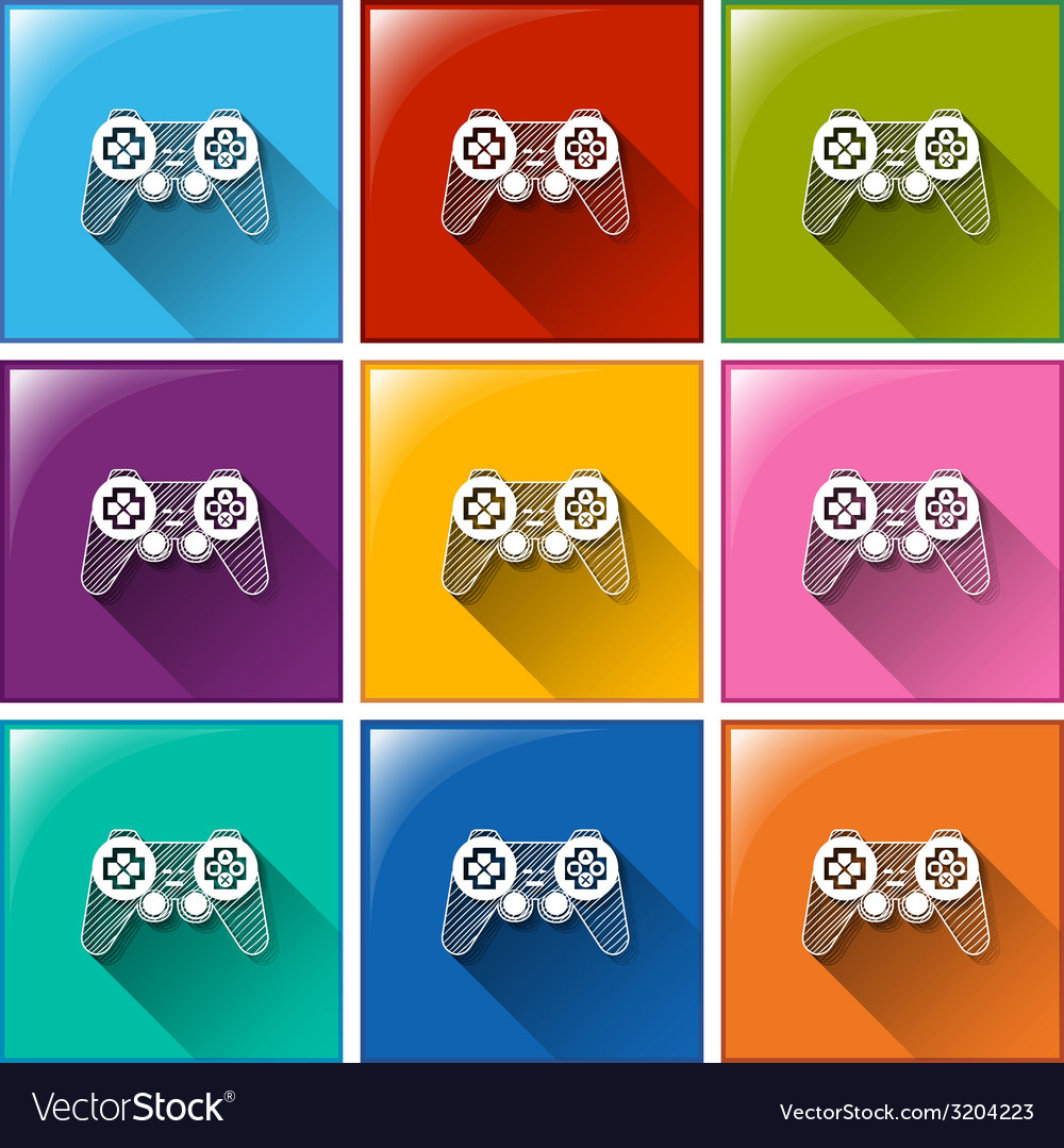 Buttons with remote control for toys vector | Price: 1 Credit (USD $1)