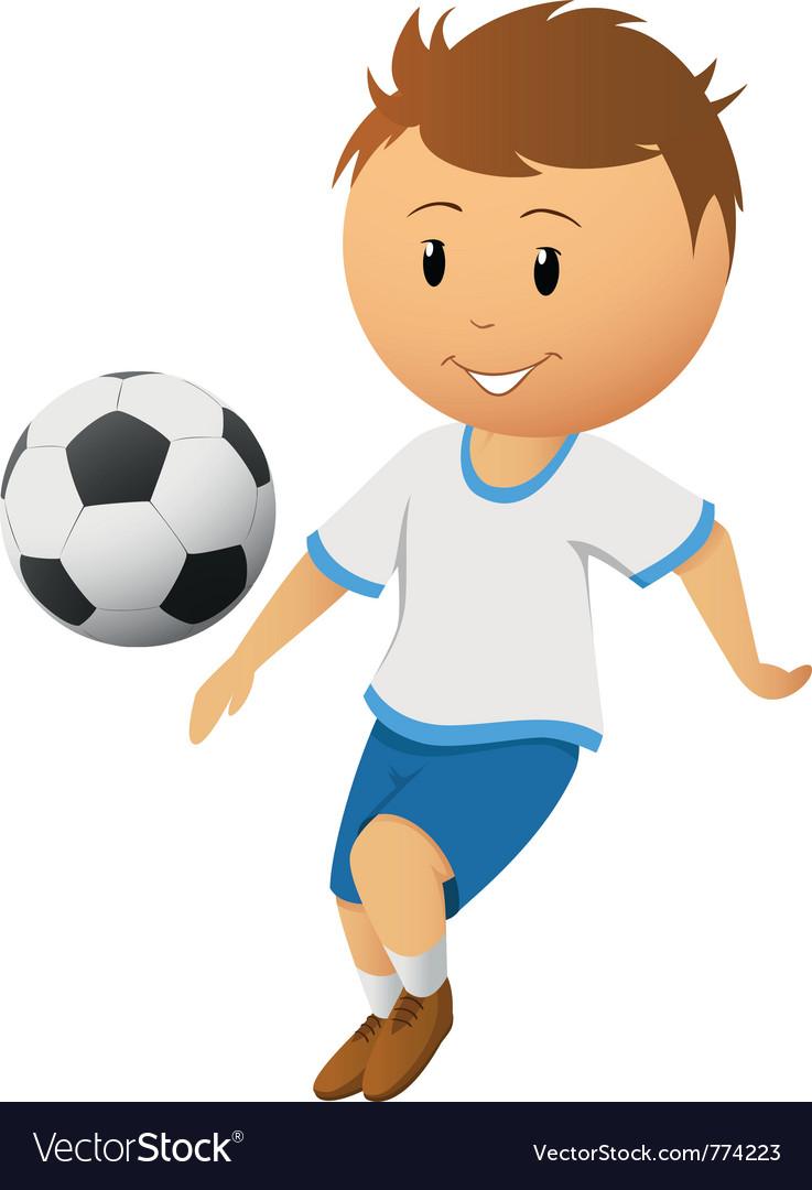 Cartoon footballer vector | Price: 3 Credit (USD $3)