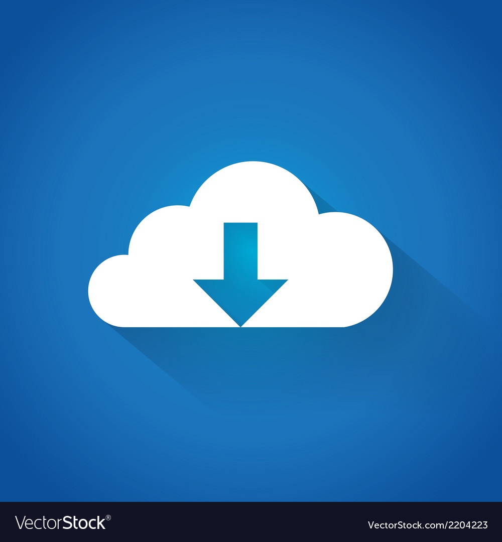 Cloud downloading vector | Price: 1 Credit (USD $1)