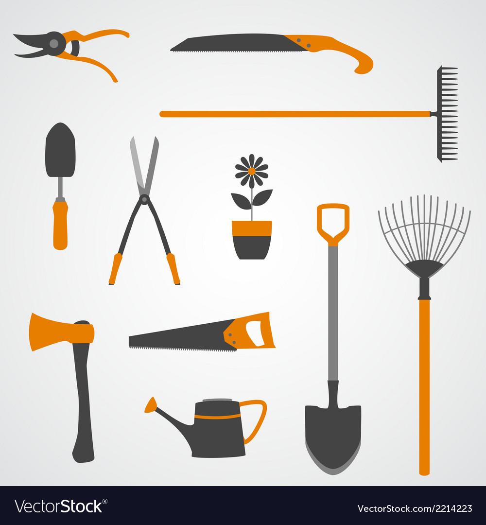 Garden tools icons copy vector | Price: 1 Credit (USD $1)