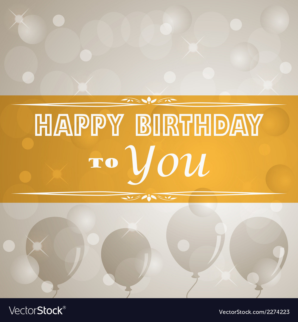 Happy birthday retro poster vector | Price: 1 Credit (USD $1)