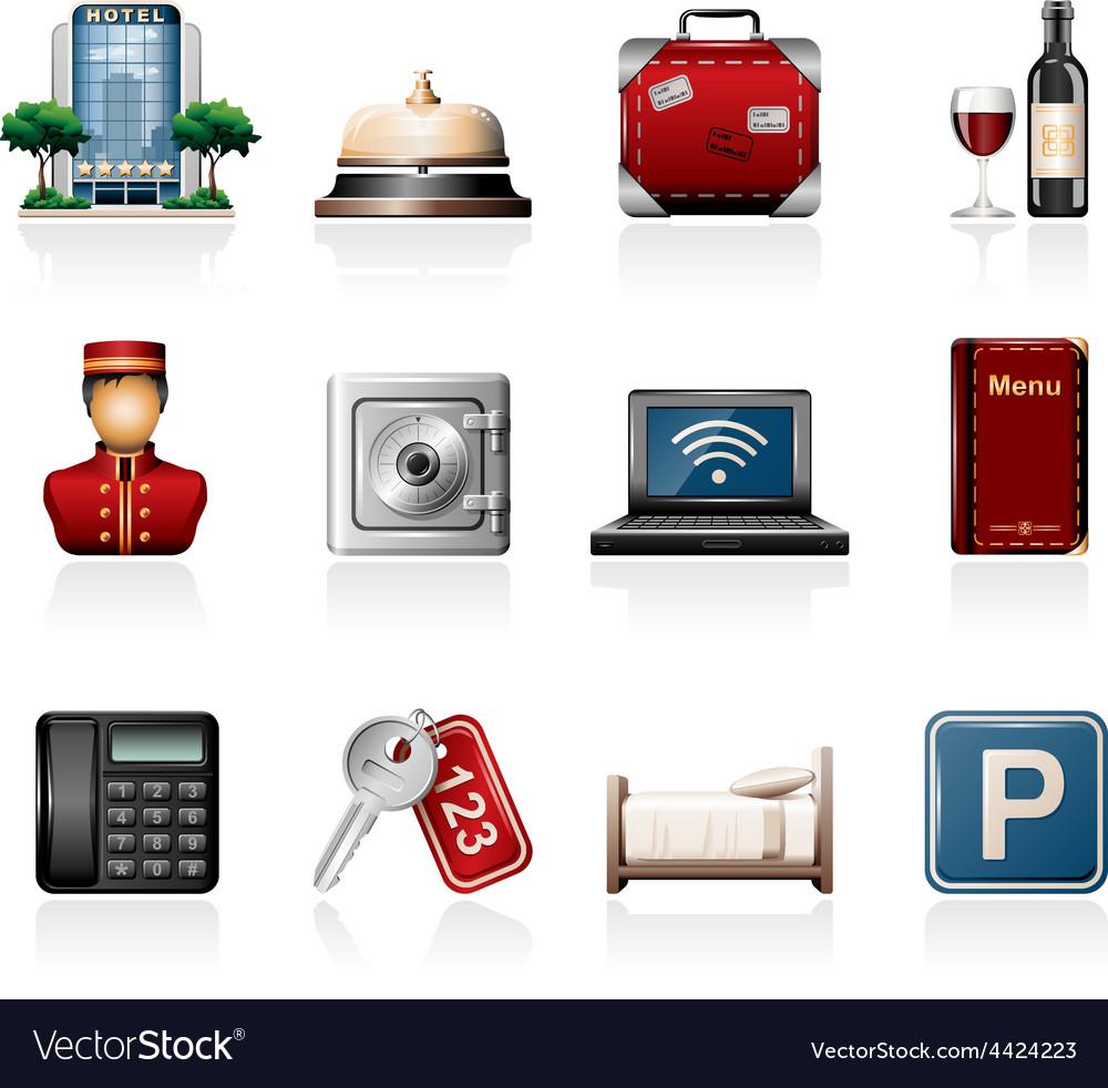Hotel icon set vector | Price: 3 Credit (USD $3)