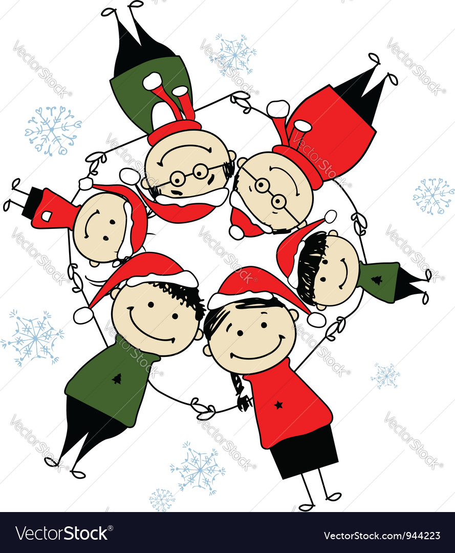 Merry christmas happy family for your design vector | Price: 1 Credit (USD $1)