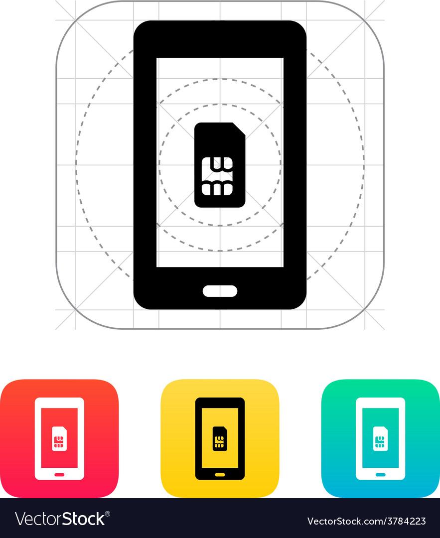Mobile phone sim card icon vector | Price: 1 Credit (USD $1)