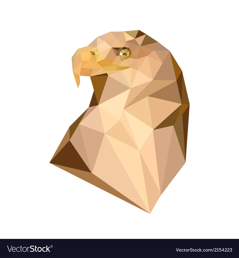 Polygonal royal eagle vector | Price: 1 Credit (USD $1)