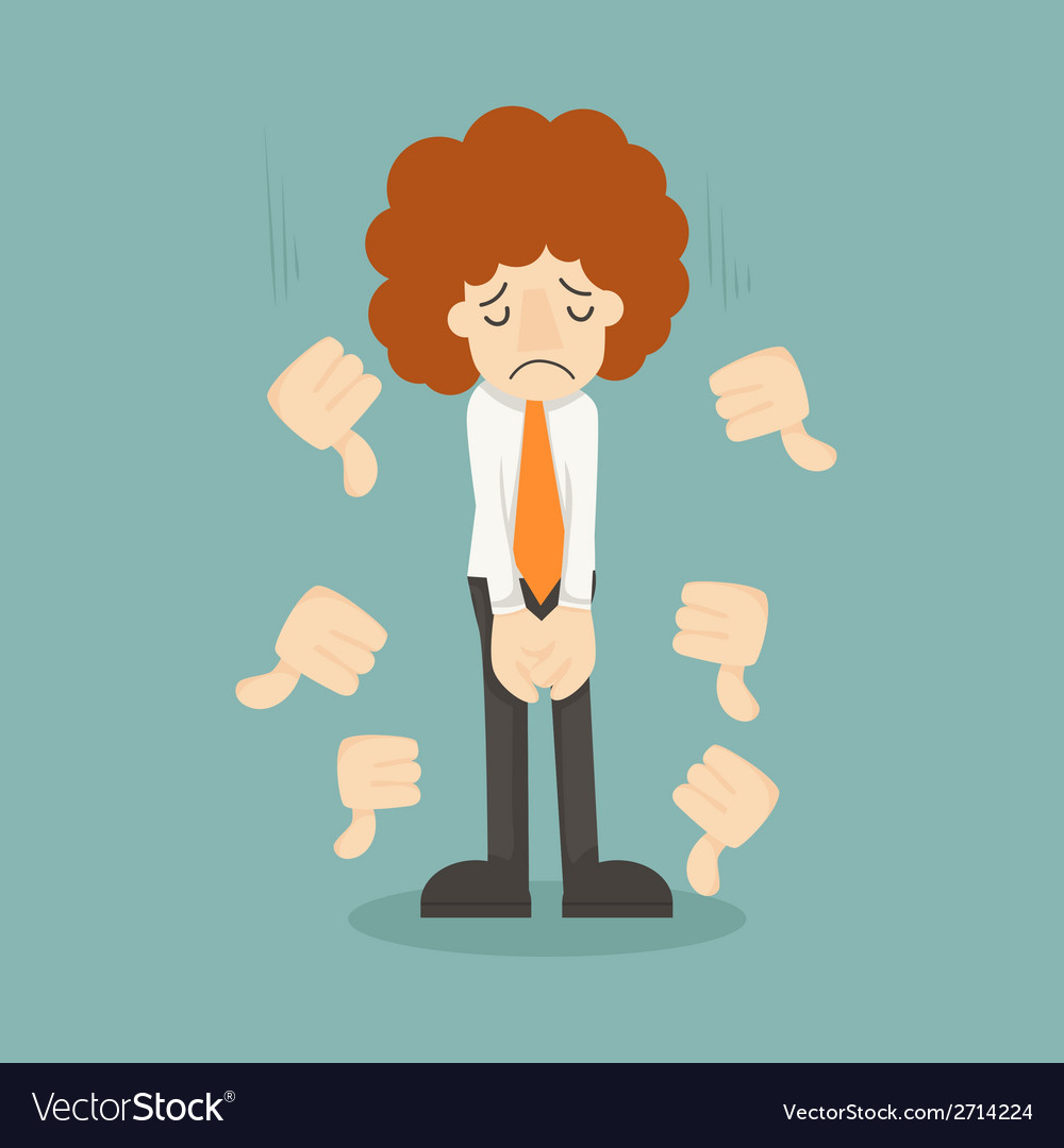 Businessman unlike thumbs down vector | Price: 1 Credit (USD $1)