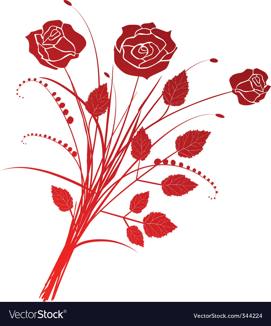 Floral background with roses vector   Price: 1 Credit (USD $1)