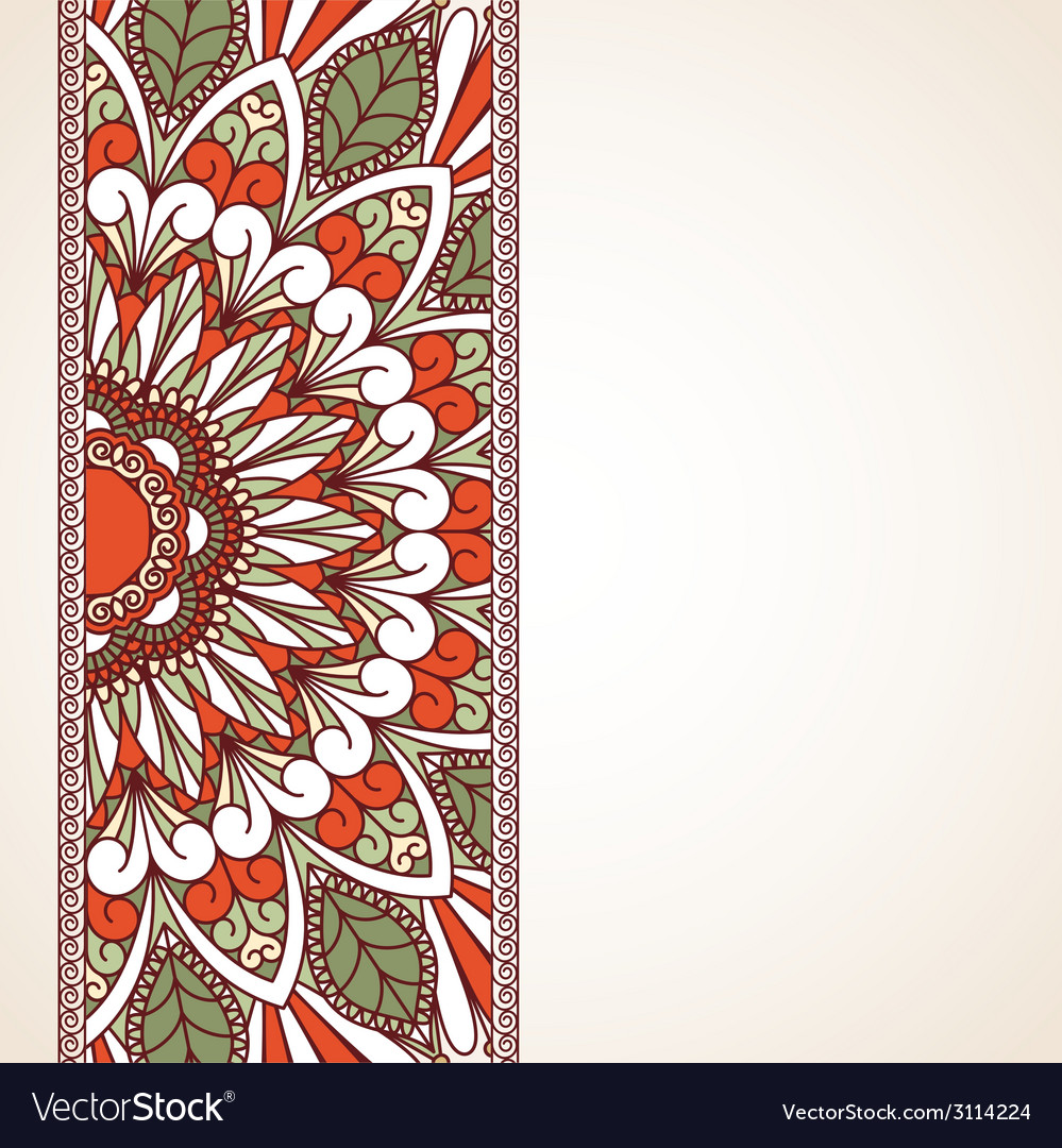 Floral oriental pattern vector   Price: 1 Credit (USD $1)
