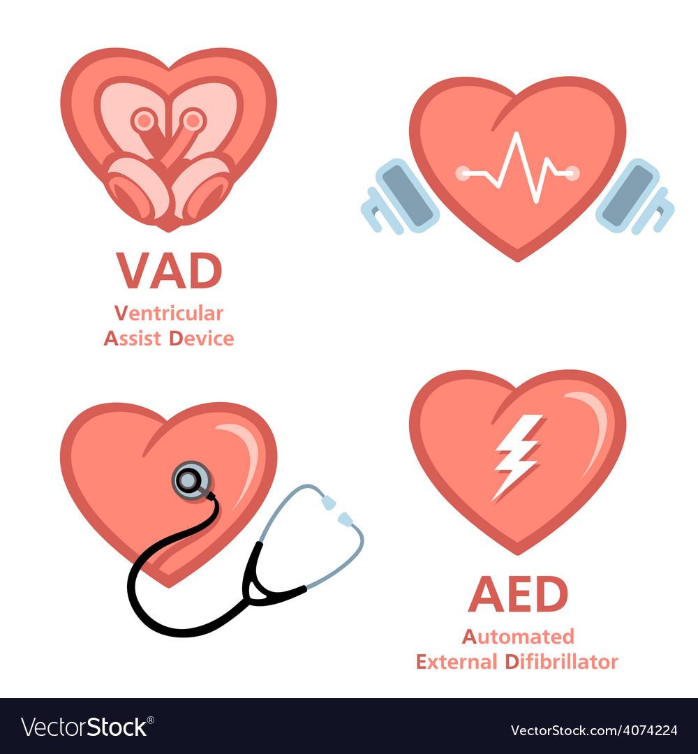 Heart care symbols vector | Price: 3 Credit (USD $3)