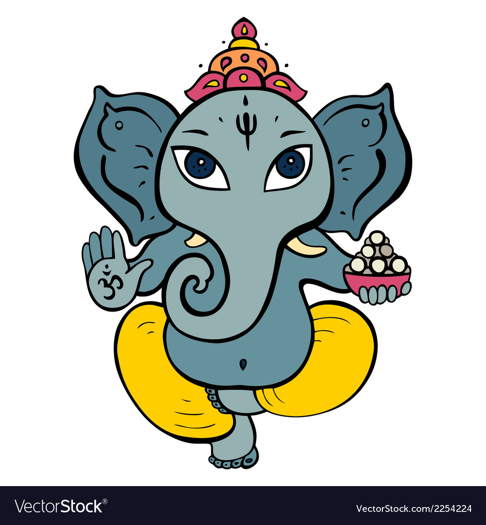 Hindu god ganesha vector | Price: 1 Credit (USD $1)