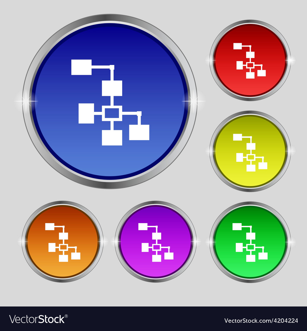 Local network icon sign round symbol on bright vector | Price: 1 Credit (USD $1)