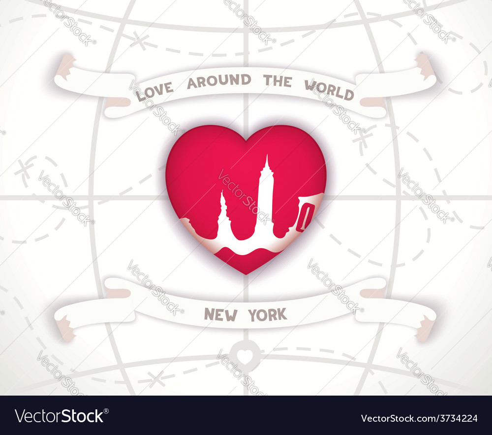 Love around the world vector | Price: 1 Credit (USD $1)