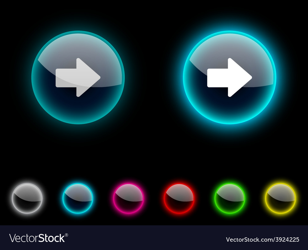 Arrow button vector | Price: 1 Credit (USD $1)