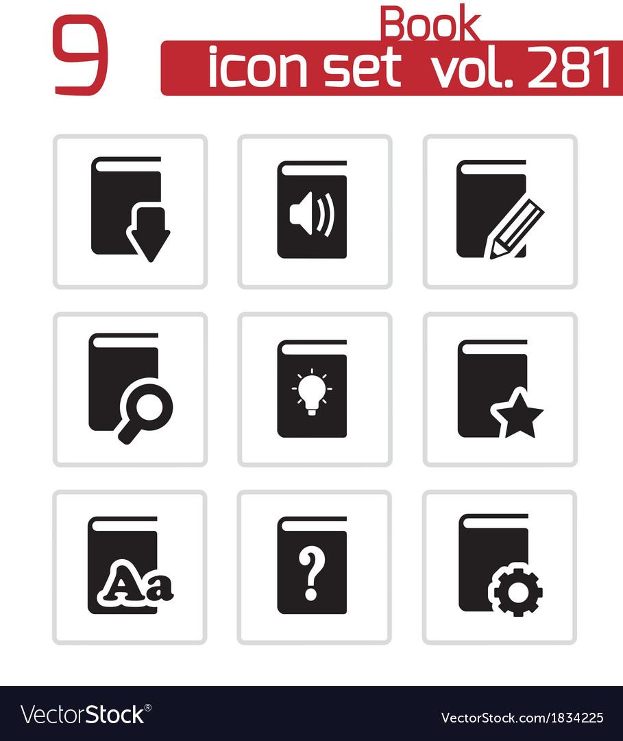Black books icons set vector   Price: 1 Credit (USD $1)