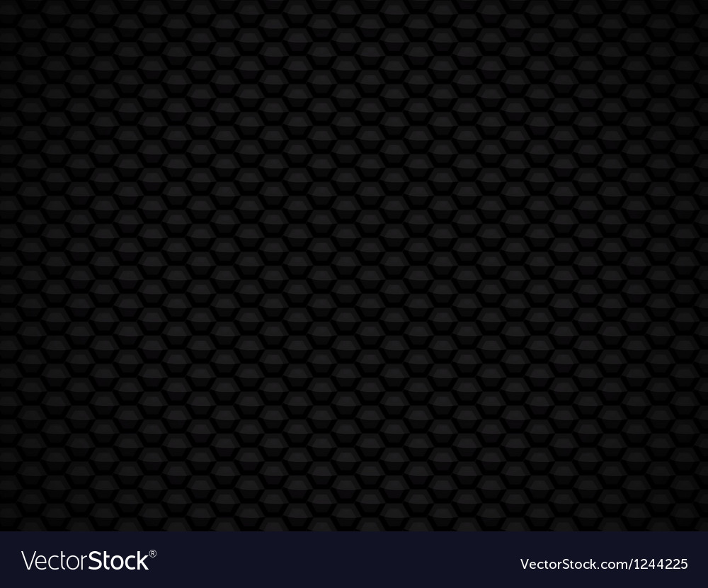 Black glossy 3d honeycomb background vector | Price: 1 Credit (USD $1)