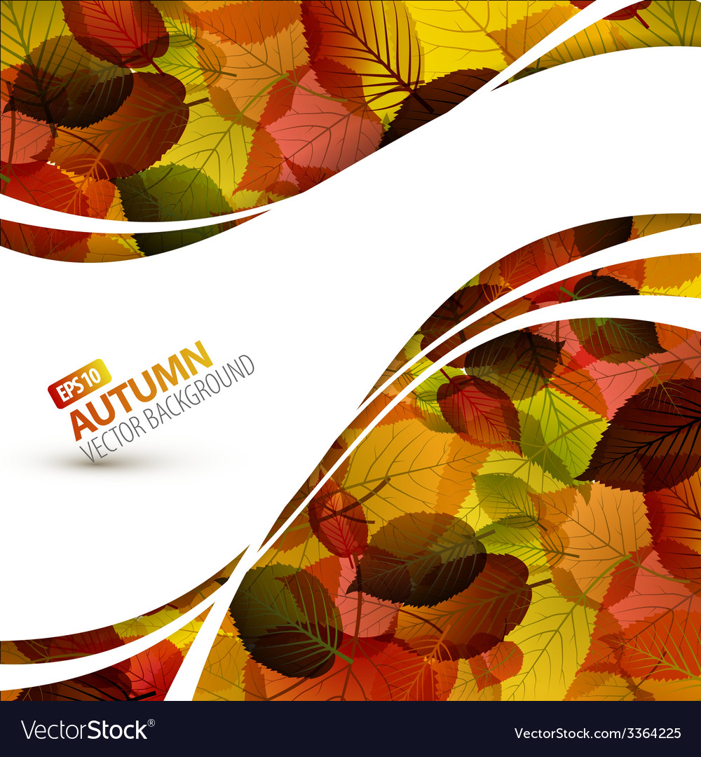 Colorful autumn background vector | Price: 1 Credit (USD $1)