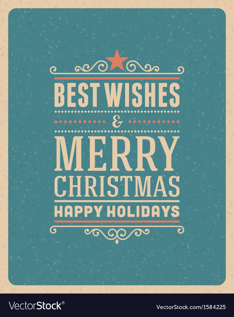 Merry christmas postcard ornament vector   Price: 1 Credit (USD $1)