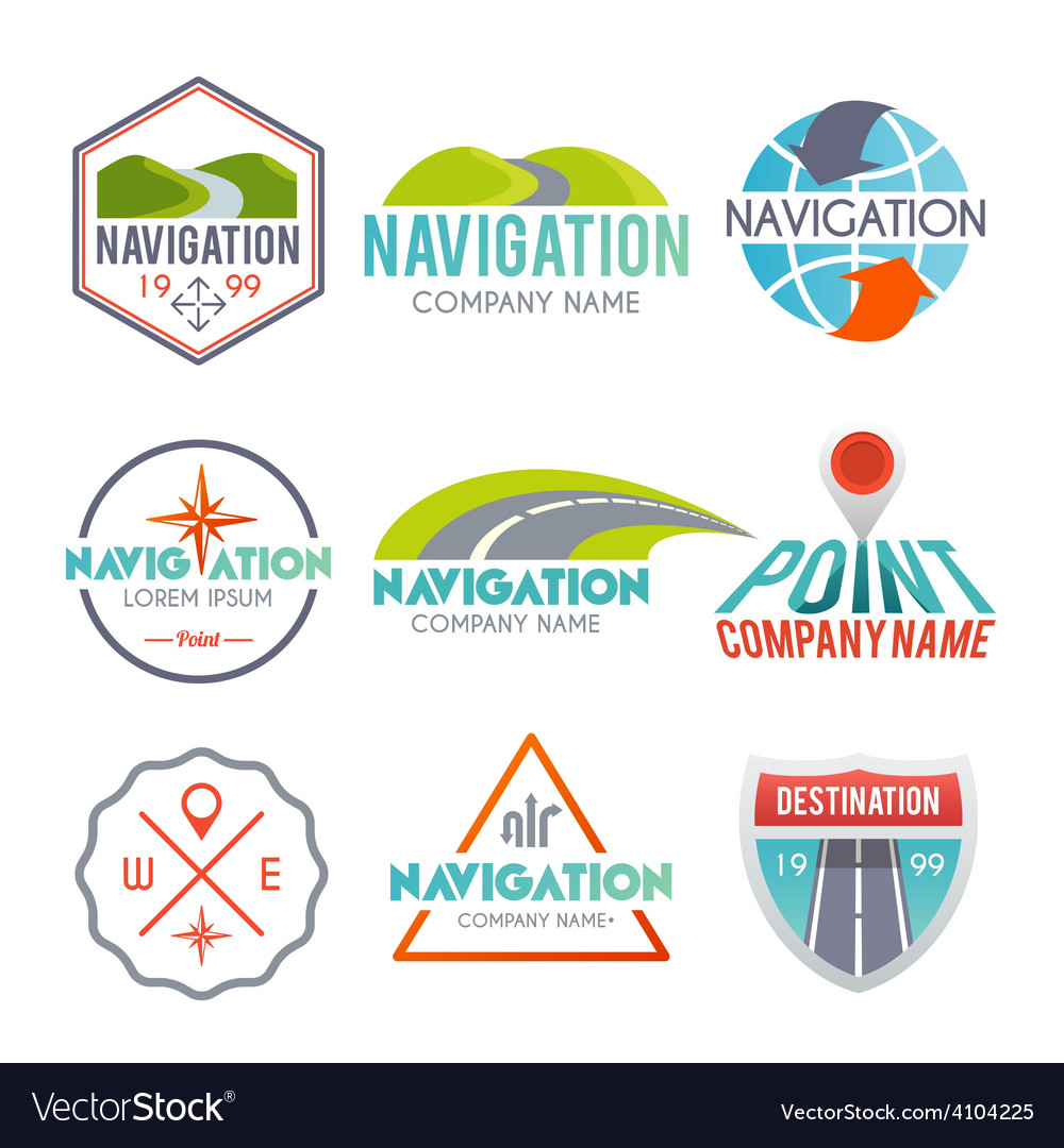 Navigation label set vector | Price: 1 Credit (USD $1)
