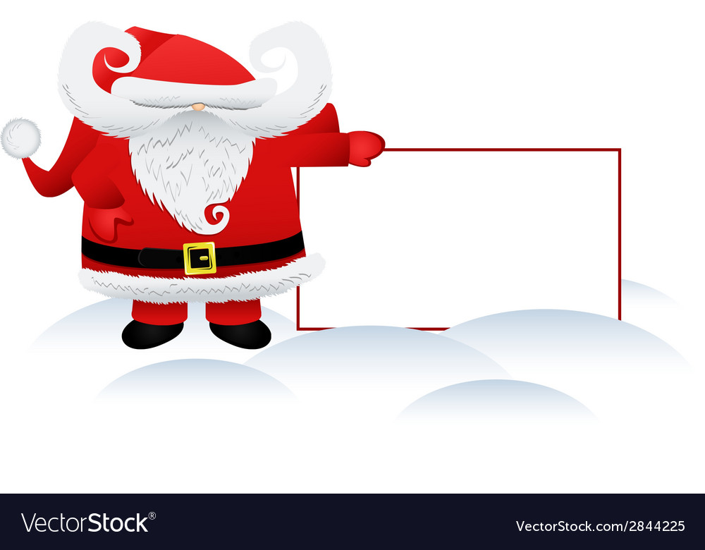 Santa claus and a banner vector | Price: 1 Credit (USD $1)
