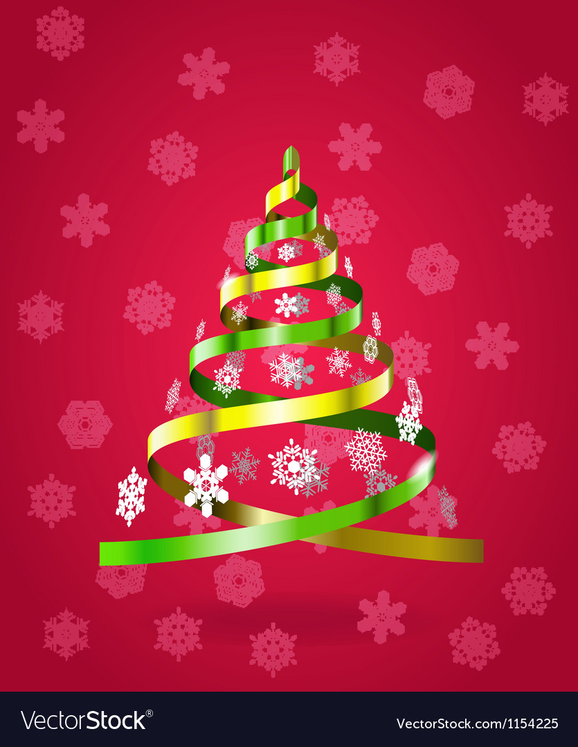 Stylized christmas tree from ribbons vector | Price: 1 Credit (USD $1)