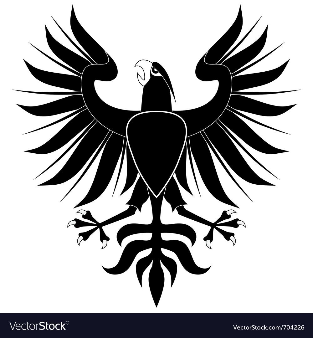 Black heraldic eagle vector   Price: 1 Credit (USD $1)