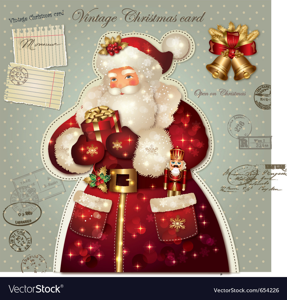 Christmas with santa claus vector | Price: 3 Credit (USD $3)