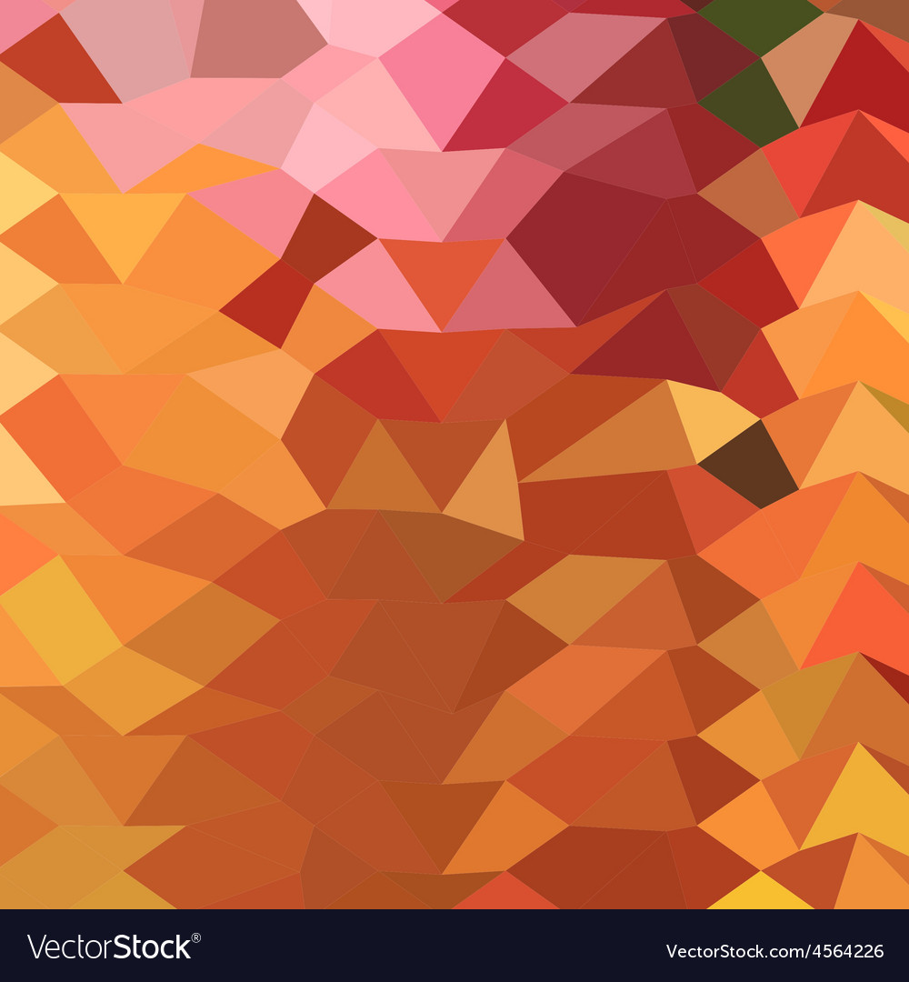 Dark tangerine abstract low polygon background vector | Price: 1 Credit (USD $1)