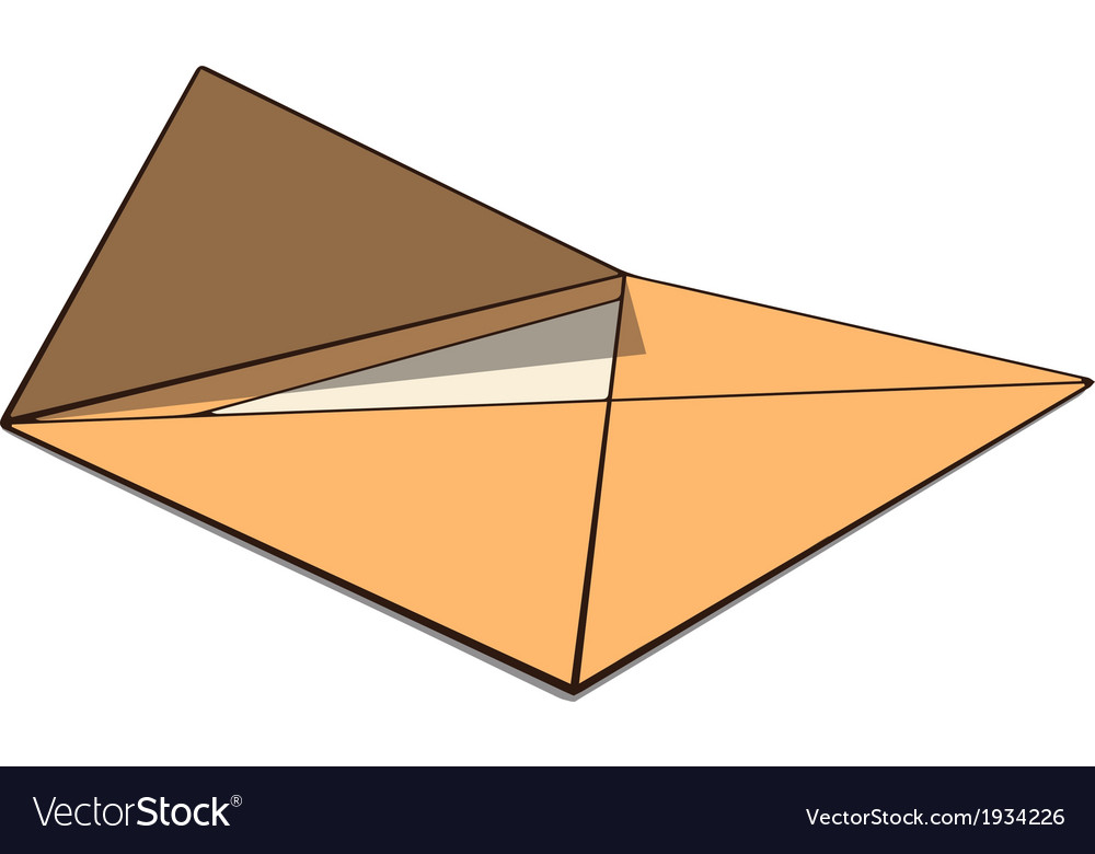 Open envelope with paper perspective drawing vector | Price: 1 Credit (USD $1)