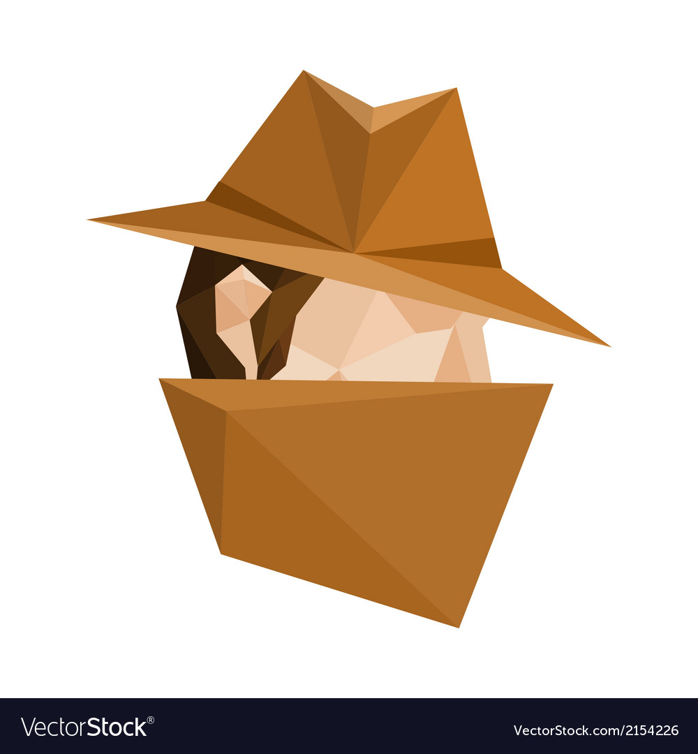 Polygonal spy vector | Price: 1 Credit (USD $1)