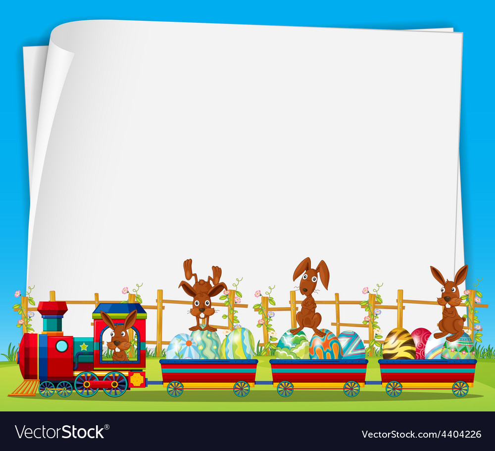 Rabbits and train vector | Price: 3 Credit (USD $3)