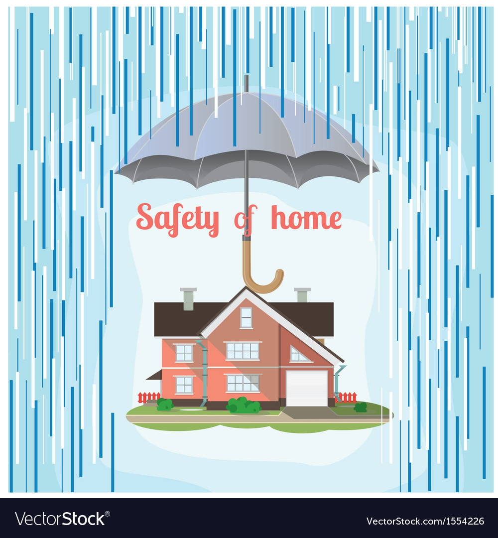 Safety of home vector | Price: 1 Credit (USD $1)