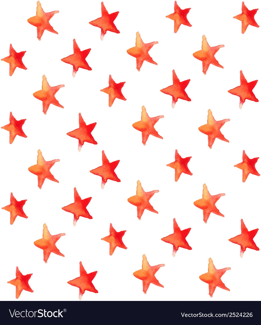 Seamless watercolor stars pattern vector | Price: 1 Credit (USD $1)
