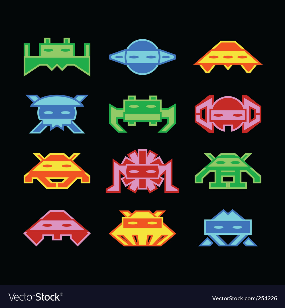 Space invaders vector | Price: 1 Credit (USD $1)