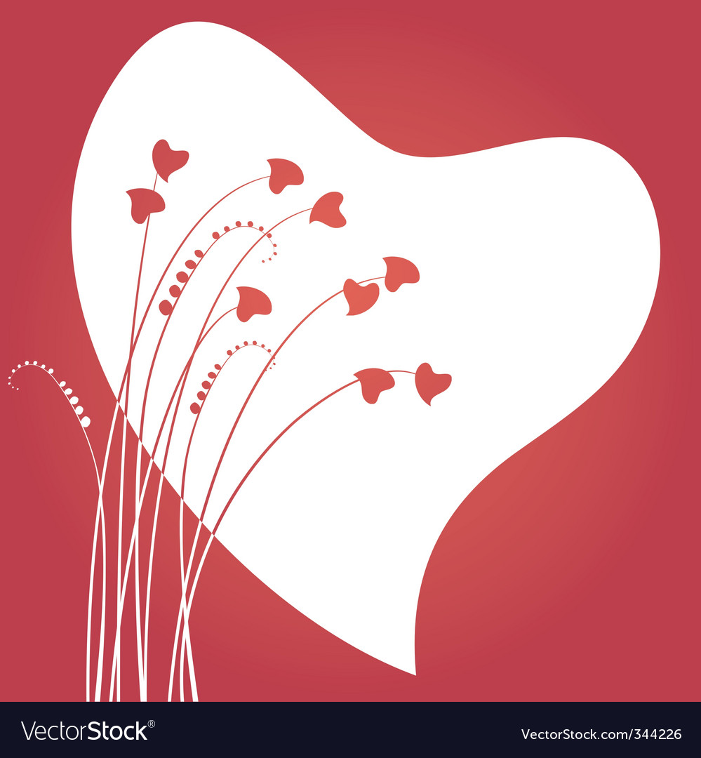 Valentines day abstract with dandelion vector | Price: 1 Credit (USD $1)