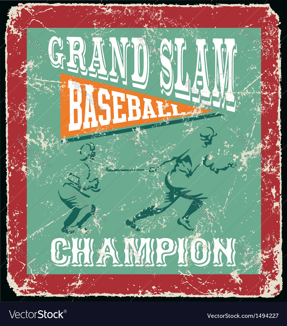 Baseball grandslam homerun vector | Price: 1 Credit (USD $1)