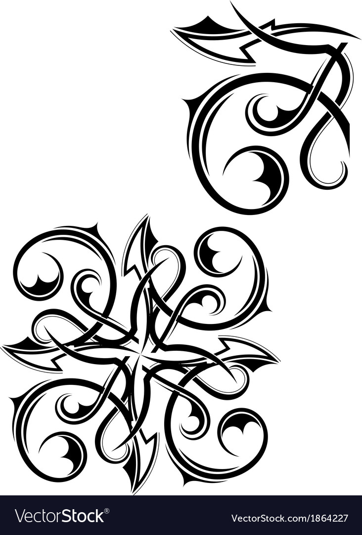 Black tribal element for design vector | Price: 1 Credit (USD $1)