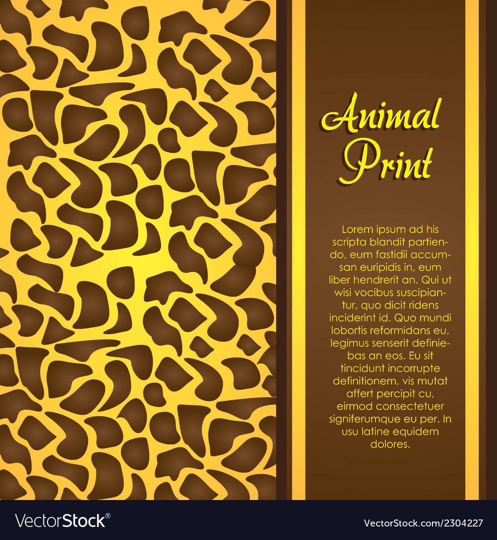 Cheetah print vector | Price: 1 Credit (USD $1)