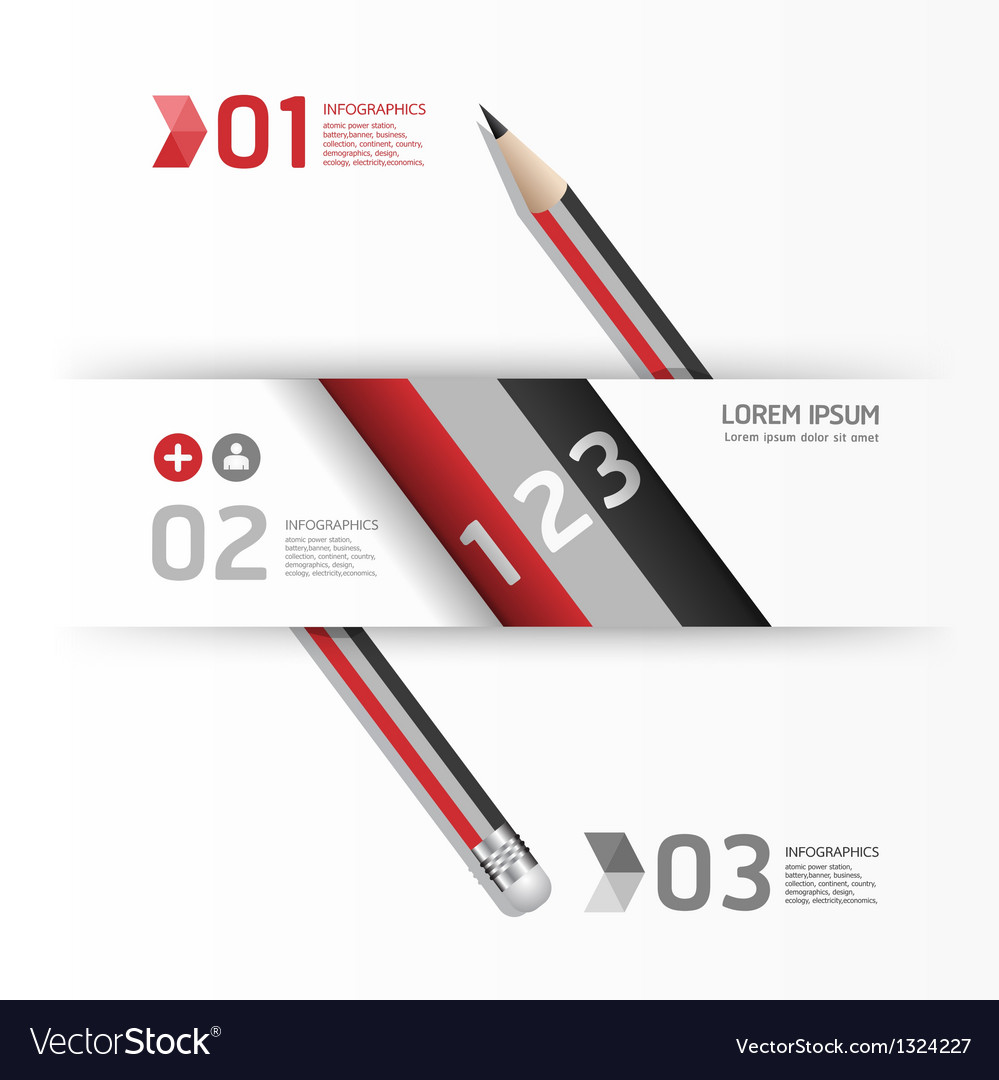 Creative template with pencil banner vector | Price: 1 Credit (USD $1)