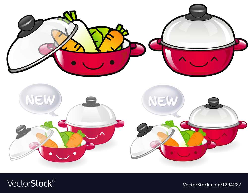 Different styles of pan sets vector | Price: 1 Credit (USD $1)