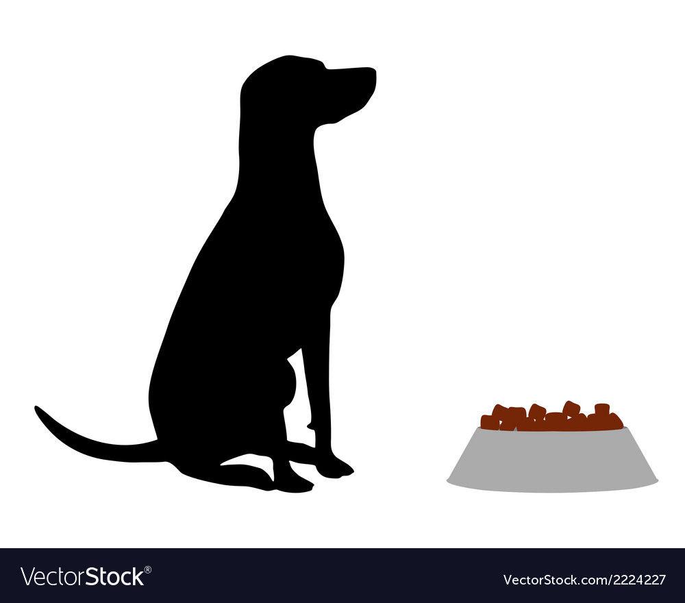 Dog feeding vector | Price: 1 Credit (USD $1)