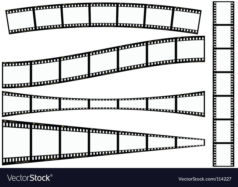 Film strip set vector | Price: 1 Credit (USD $1)