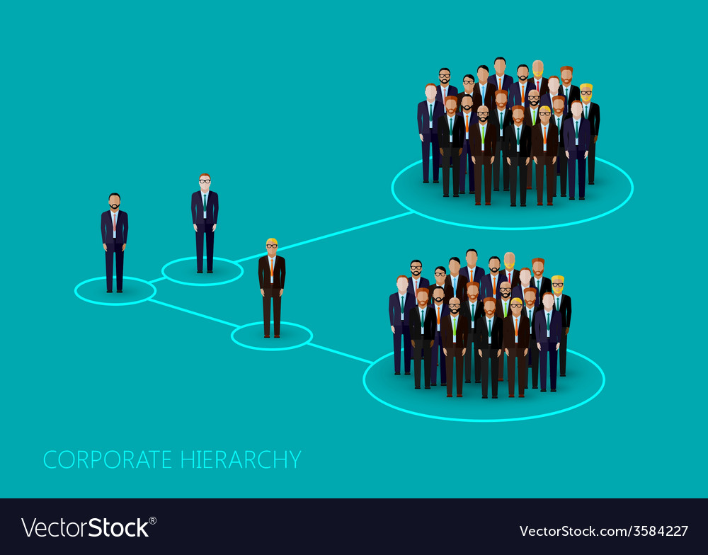 Flat of a corporate hierarchy structure a a crowd vector | Price: 1 Credit (USD $1)