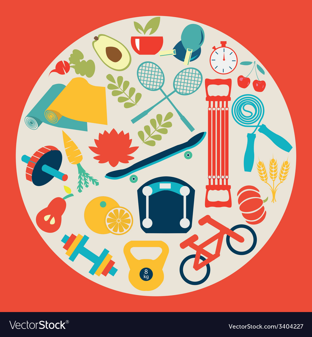 Healthy lifestyle background - vector | Price: 1 Credit (USD $1)