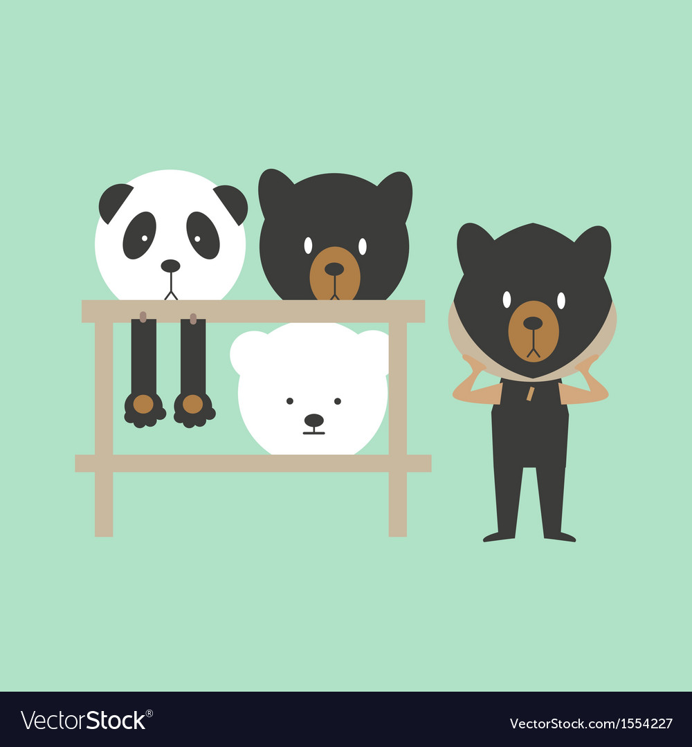 Mini bear - mascot vector | Price: 1 Credit (USD $1)