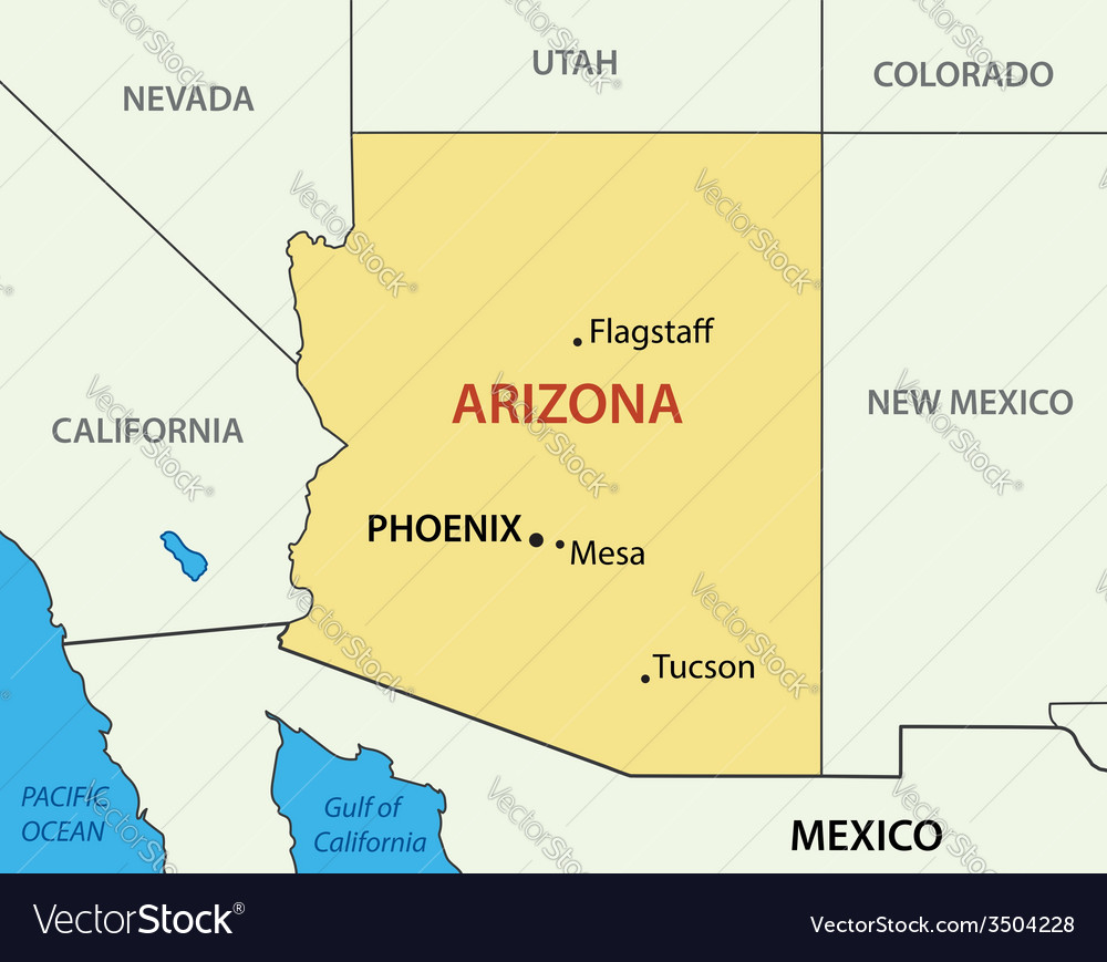 Arizona - map vector | Price: 1 Credit (USD $1)