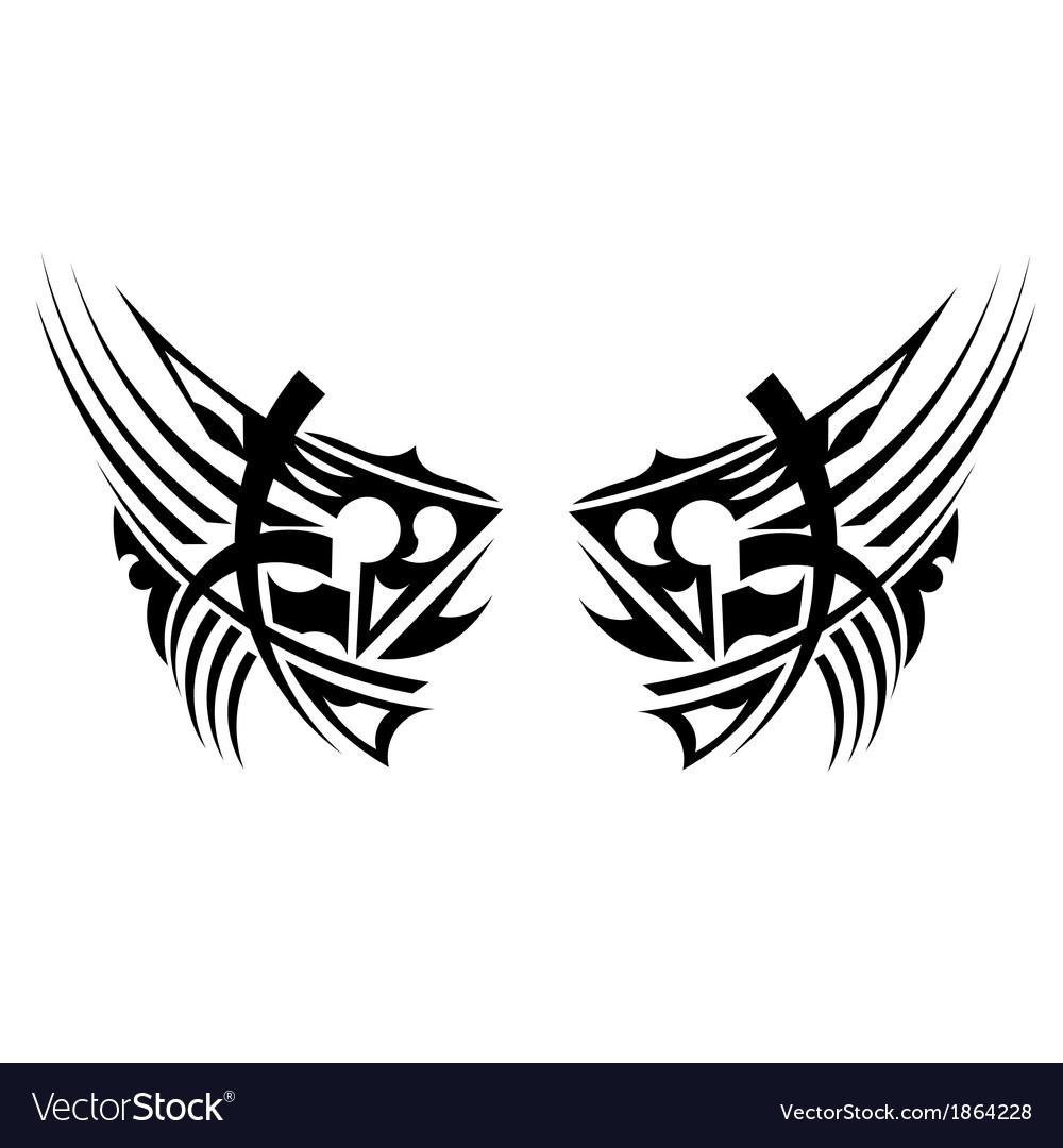 Black tribal element vector | Price: 1 Credit (USD $1)